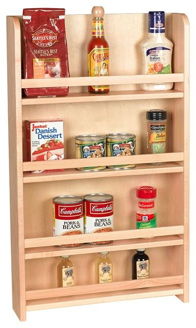 Kitchen Cabinet Spice Organizers Century Components Sras15pf Wood Door Mount Kitchen Spice Rack Organizer 15 Quot Contemporary