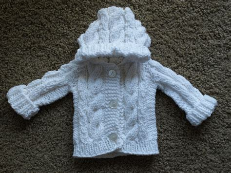 knit baby sweater hooded cable knit baby sweater made to order by