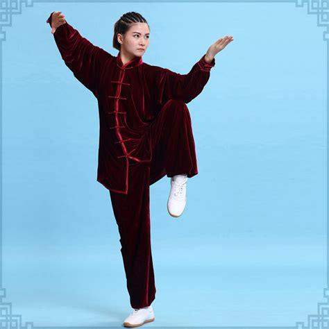 chinese women martial dress arts 10 colors velvet chinese martial arts clothing taichi