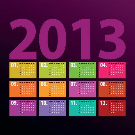 calendar design elements creative 2013 calendars design elements vector set 06