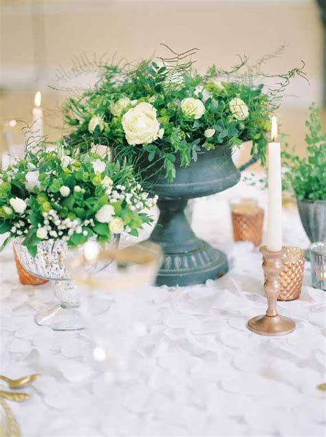 industrial wedding table decorations how to style a grey urn wedding centrepiece