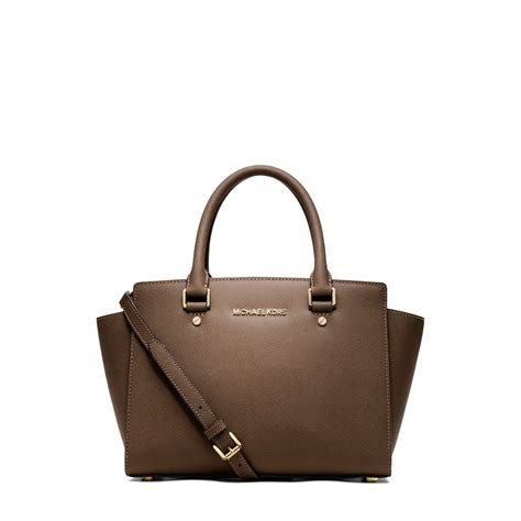 Michael Michael Kors Saratoga Leather Satchel by Michael Kors Medium Selma Saffiano Leather Satchel Car