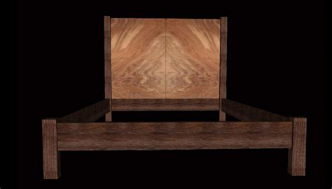 book bed claro walnut book matched bed clark functional art