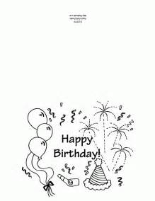 happy birthday coloring card free printable happy birthday coloring pages coloring home