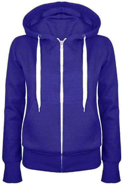Zip Up Coat plain zip up fleece hoody sweatshirt coat