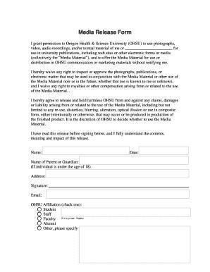 Media Release Form Social Media Release Form Standard Media Release Form Template Minor Media Media Release Form For Minors Template