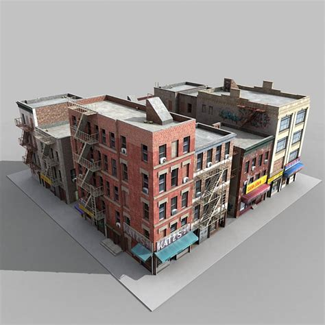 City Blocks 3d fbx buildings city block architectural