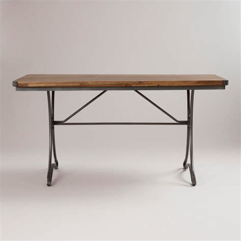 World Market Kitchen Table by Jackson Rectangular Table With Metal Base Traditional