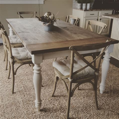 Handmade Farm Table - gorgeous handmade rustic farmhouse table dinning table