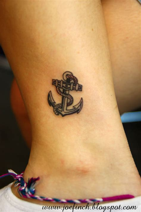 anchor tattoo design for ankle tattooshunt com