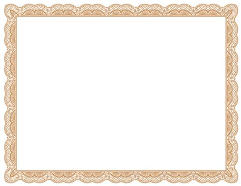blank printable certificate borders templates