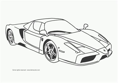 coloring pages with cars sports car coloring page