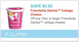 friendship cottage cheese coupons friendship coupon 0 55 in friendship cottage cheese