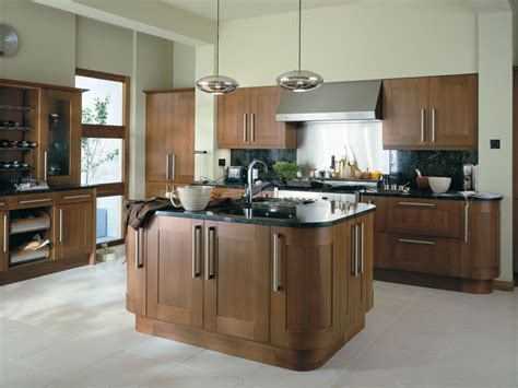 image modern walnut kitchen cabinets