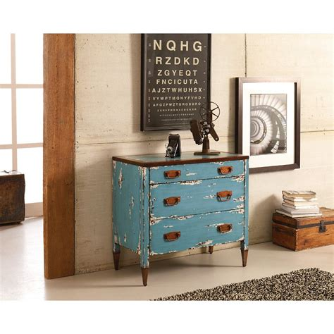 pair this shabby chic farmhouse chest with painted blue