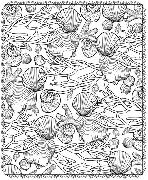 coloring pages for adults beach welcome to dover publications