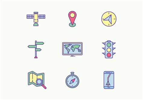 navigation icons   vectors clipart graphics