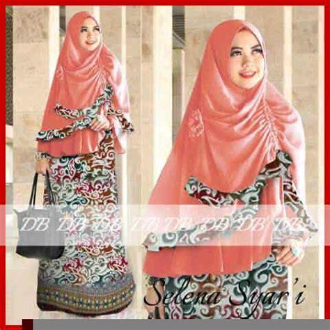 Gamis Terbaru Termurah Gamis Wanita Syari 286nv Selena Tunik baju gamis batik selena2 y1015 busana tradisional