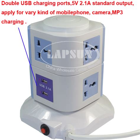 ls with usb ports and outlets 7 ways power multi switched vertical socket outlet