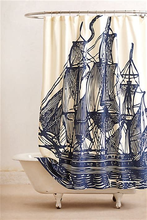 pirate ship bathroom sailboat shower curtain get the look for less