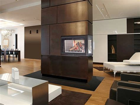 Three Sided Electric Fireplace by Modern Fireplaces Three Side Fireplaces Living Room