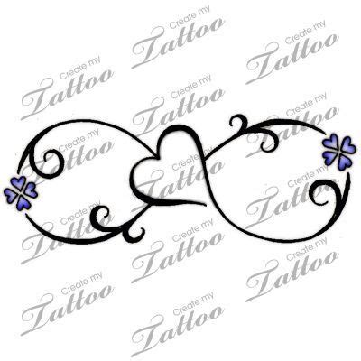 infinity tattoo with name generator 46 heart infinity symbol tattoos