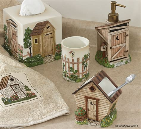 outhouse bathroom set outhouse bath collection
