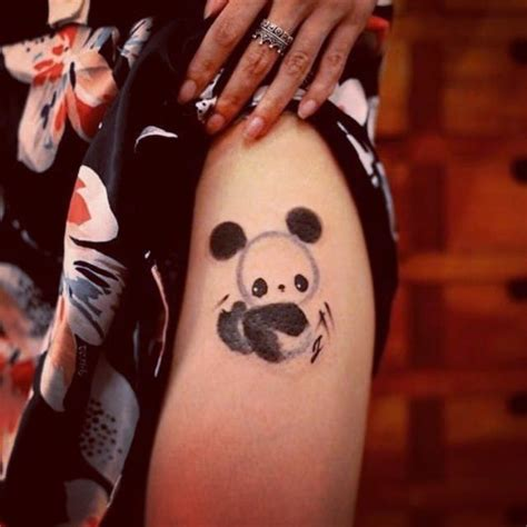 panda tattoo on finger 25 irresistible panda tattoos tattoodo