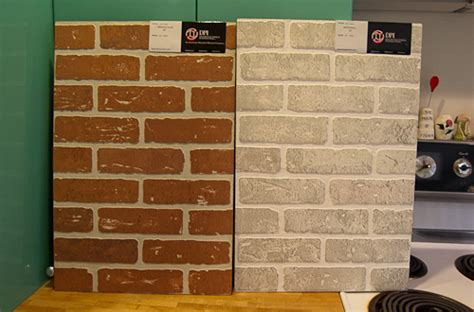 Kitchen Backsplash Stone Tiles 12 wall panels that look like brick and stone i dig it