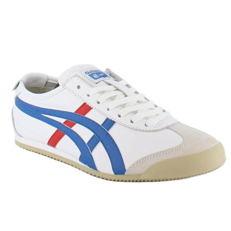 onitsuka shoes onitsuka tiger mexico 66 white blue unisex trainers ebay