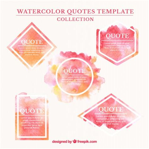 watercolor quote templates vector free download