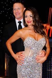 Bella wedded to daniel bryan and nikki bella with the champ john cena