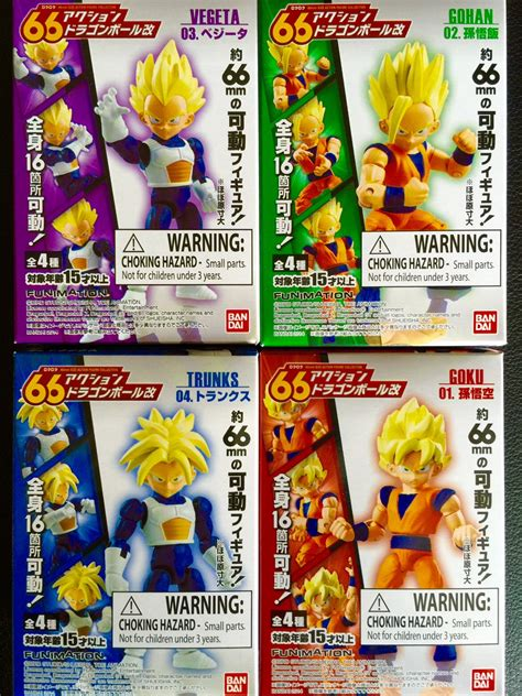 Z Bandai Collection Figure Set Of 7 bandai z 66 trading figures set of 4