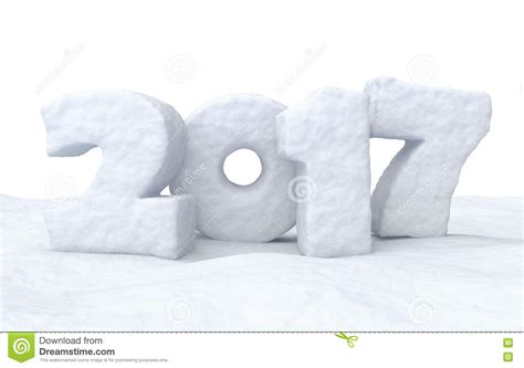new year snow 2017 happy new year snow sign stock illustration image