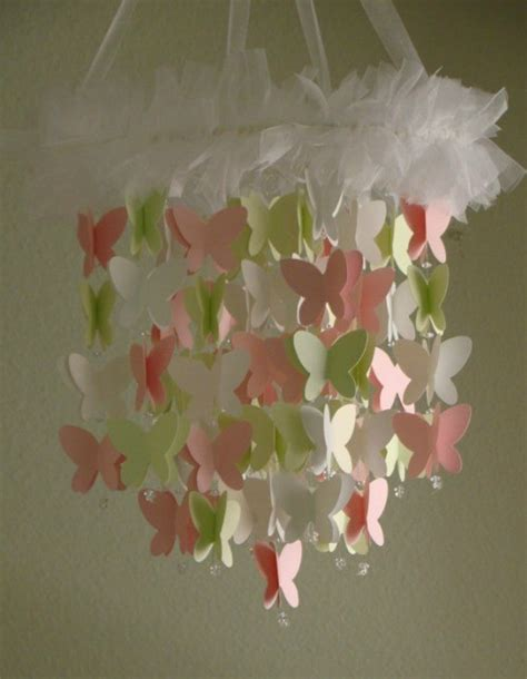 Handmade Paper Butterflies - butterfly themed accessories for the nursery