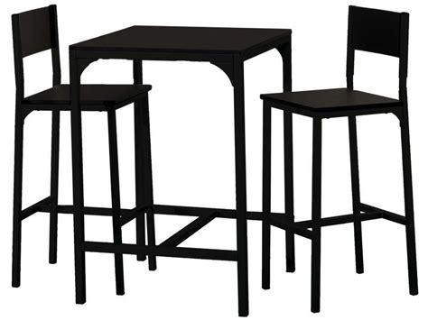 ensemble table bar et tabouret ensemble table 2 tabourets de bar loko coloris noir