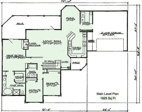 ranch with walk out basement house plans 401 floor plan