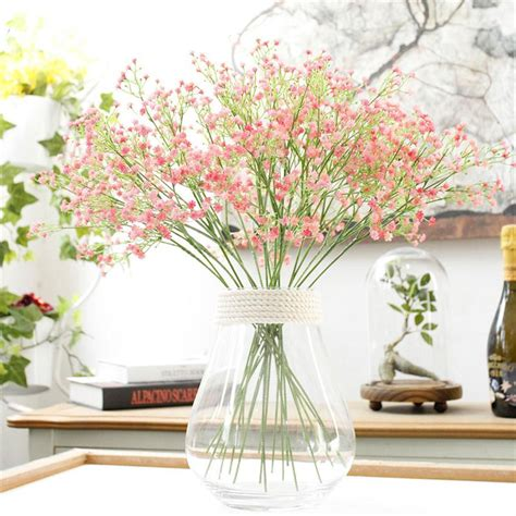 artificial flower decorations for home artificial fake babys breath gypsophila silk flowers
