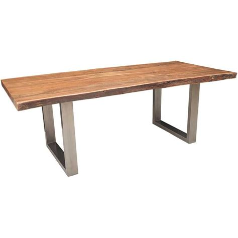 edge dining table live edge dining table with steel base afw