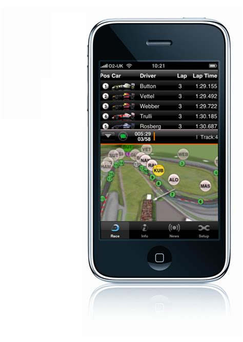 k iphone app the iphone app for tracking f1 cars in real time autoevolution