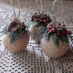 homemade ornaments homemade rustic christmas decorations 35 rustic diy