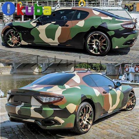 jumbo green jugle camouflage vinyl wrap car styling