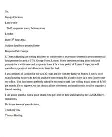 Letter Template To Lease Sle Lease Letter 9 Exles In Pdf Word