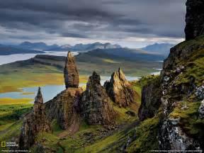 Basalt pinnacles photo scotland wallpaper national