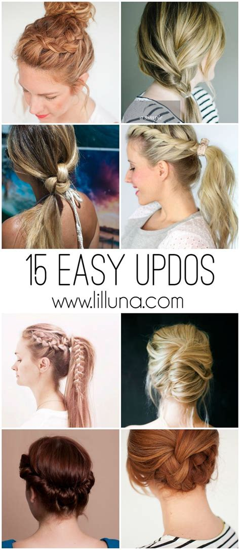 cute hairstyles lazy days 15 easy updos for all lengths and types of hair perfect