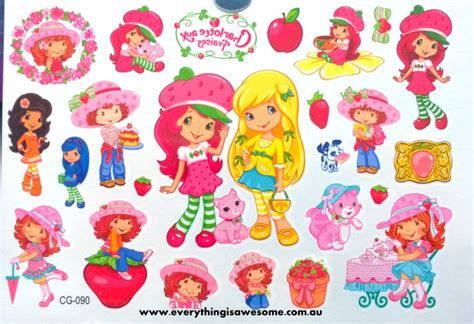 strawberry shortcake tattoo temporary tattoos everything is awesome