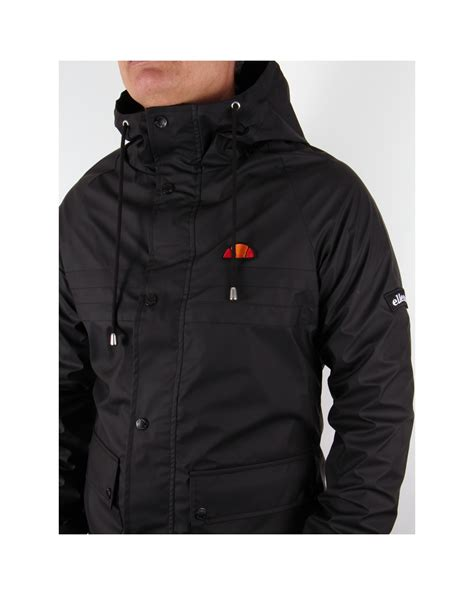 Jacket Black by Ellesse Trevisina Jacket Black Heritage Hooded Jacket