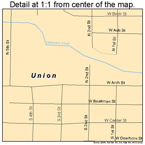 map of union oregon union oregon map 4175850