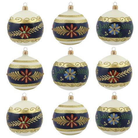 vitbis ornaments vitbis 9 pack colors finishes assorted ornament set at lowes