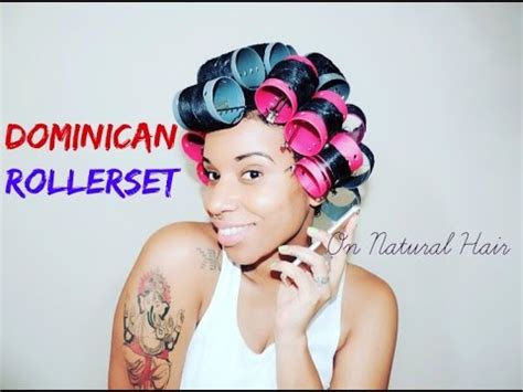 natural hair tutorial making your roller set youtube dominican roller set on natural hair youtube